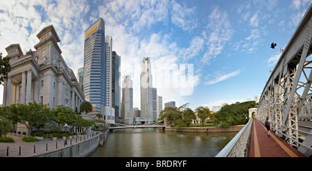 Geschäftsviertel von Singapur, Asien - Stockfoto
