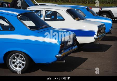 Ford Escort Mk1 Sport-Limousinen - Stockfoto