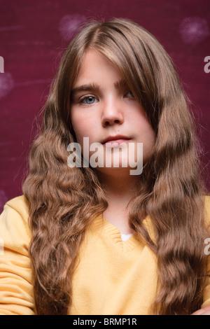 Porträt eines jungen Mädchens - Stockfoto