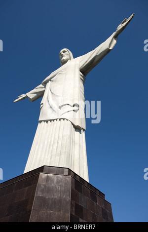 Rio De Janeiro: Corcovado Berg: Christus der Erlöser - Stockfoto