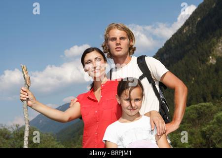 Freizeit in den Bergen - Stockfoto