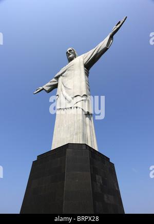 Die Christusstatue auf dem Corcovado-Berg in Rio De Janeiro Brasilien - Stockfoto