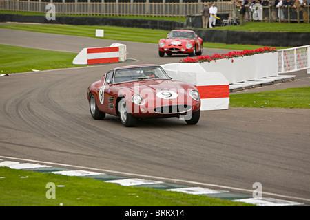 Ferrari racing beim Goodwood Revival 2010 - Stockfoto