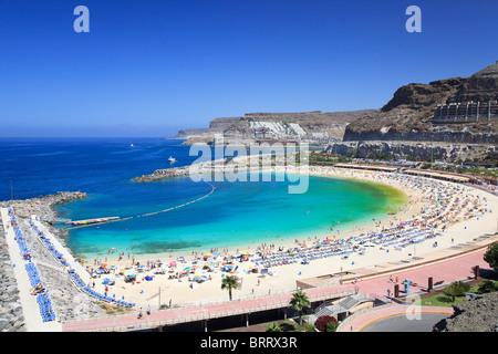 Kanarische Inseln, Gran Canaria, Puerto Rico, Playa de Los Amadores - Stockfoto