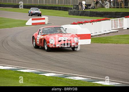 1962 Ferrari 250 GTO 2953cc Martin Brundle & Mark Hales beim Goodwood Revival 2010 - Stockfoto