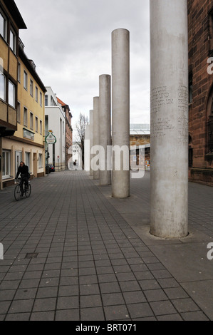 Straße der Menschenrechte, Weg der Menschenrechte, Konzept von Dani Karavan, 1993, Nürnberg, Bayern, Deutschland, - Stockfoto