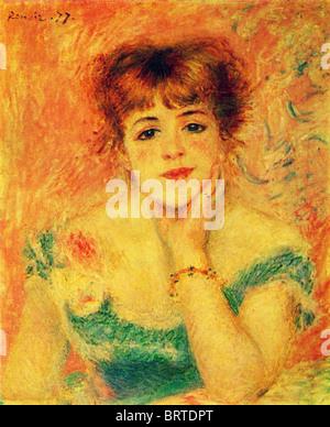Auguste Renoir - Porträt der Schauspielerin Jeanne Samary. Studie. 1877 - Stockfoto