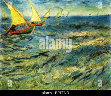 Vincent Van Gogh - das Meer in Sainte-Marie. 1883. - Stockfoto