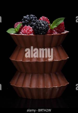 zuckerhaltige Schokolade berry - Stockfoto