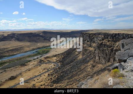Snake River Tal unterhalb des Swan fällt Dam in Idaho, USA - Stockfoto