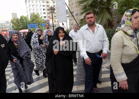 Iranische Touristen Syrien, Damaskus. Foto: Sean Sprague - Stockfoto
