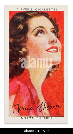 Norma Shearer Spielers Zigarette Karten Portrait - Stockfoto
