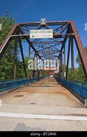 Kette der Felsen-Brücke, St. Louis, Missouri, Vereinigte Staaten von Amerika - Stockfoto