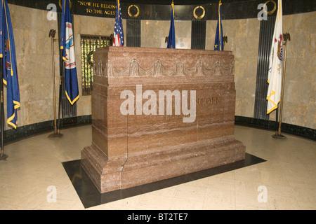 Grabstätte von Präsident Abraham Lincoln, Oak Ridge Cemetery in Springfield, Illinois, Vereinigte Staaten - Stockfoto