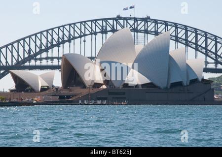 Sydney Opera House Multi-Veranstaltungsort Performing Arts Center australische Stadt Sydney dänische Architekt Jørn - Stockfoto