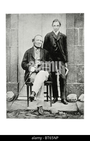 Robert Louis Balfour Stevenson Herr von 16 Jahren mit Vater Thomas im Alter von 48 Peebles 13. November 1850 – 3. - Stockfoto