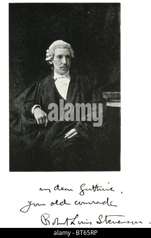 Robert Louis Balfour Stevenson graduate University of Edinburgh 1866 13. November 1850 – 3. Dezember 1894 schottischen - Stockfoto