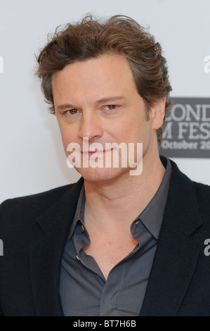 Colin Firth besucht des Königs Rede Fototermin im VUE, London, 21. Oktober 2010. - Stockfoto