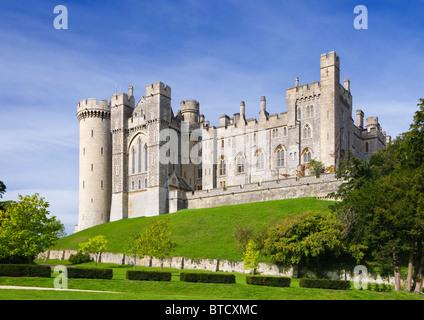 Arundel Castle, Sitz des Herzogs von Norfolk, West Sussex, Großbritannien - Stockfoto