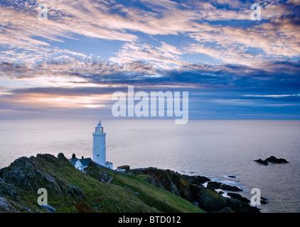 Start Point Leuchtturm in der Nähe von Salcombe, Devon, UK. Dawn. - Stockfoto