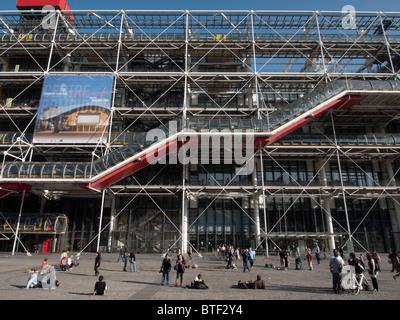 Blick auf das Pompidou Center Museum für moderne Kunst in Paris Frankreich - Stockfoto