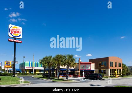 Burger King-Schnellrestaurant am International Drive, Orlando, Zentral-Florida, USA - Stockfoto