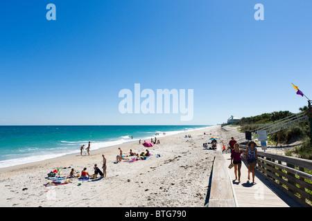 Golden Sands Park Strand nördlich von Vero Beach, Treasure Coast, Florida, USA - Stockfoto