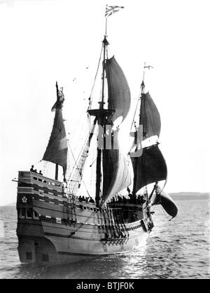 Mayflower II, Plymouth Harbor, Plymouth, England, 1957 - Stockfoto