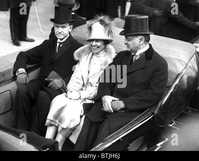 Präsident CALVIN COOLIDGE, mit Frau - Stockfoto