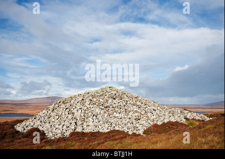 Barpa Langass gekammert Cairn, North Uist, äußeren Hebriden, Schottland - Stockfoto