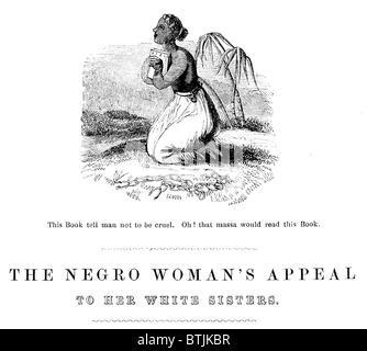 """Bild Detail aus der Titelseite der Abolitionist Gedicht: """"Die Neger Frau Appell, ihre weiße Schwestern"""", Richard - Stockfoto"""