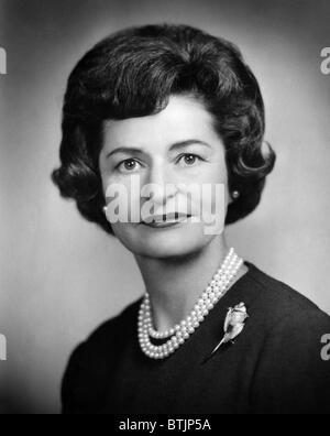 Lady Bird Johnson, ca.early der 1960er Jahre. Höflichkeit: CSU Archive/Everett Collection. - Stockfoto