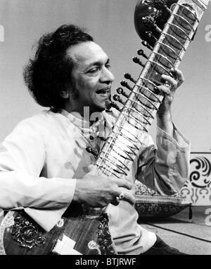 Ravi Shankar, Musiker, Komponist, Performer und Gelehrter, Porträt, 1970er Jahre - Stockfoto