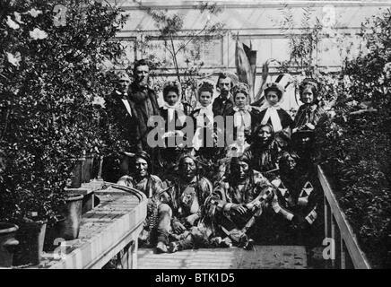 Der Bürgerkrieg im Weißen Haus Wintergarten während des Bürgerkrieges, der südlichen Plains Delegation Dolmetscher - Stockfoto