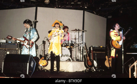 Beatlemania, (Beatles-Tribute-Band), 1981, Millrun Playhouse Theater in der Runde, Niles, Illinois. - Stockfoto