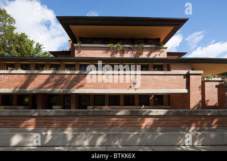 Frederick C. Robie House, Hyde Park, Chicago, Illinois, USA - Stockfoto