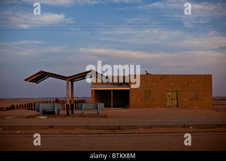 Verlassenen Bahnhof in Wadi Halfa im Sudan - Stockfoto