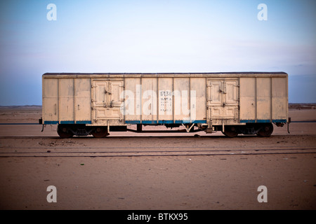 Verlassenen Eisenbahnwaggon in Wadi Halfa im Sudan - Stockfoto