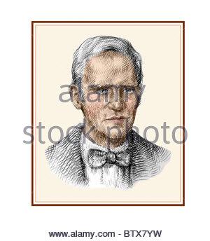 Alexander Fleming 1881 1955 schottischer Bakteriologe moderne Cross Hatch Zeichnung - Stockfoto