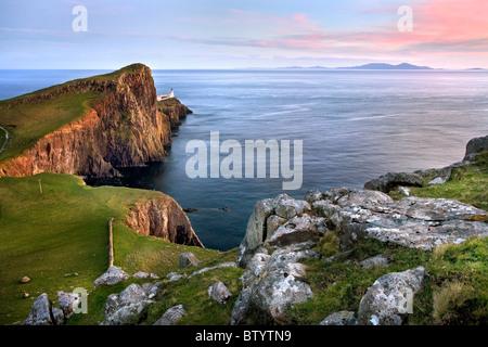 Landschaftlich-Point-Leuchtturm, Isle Of Skye. - Stockfoto