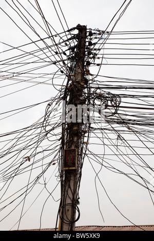 Telefon-Leitungen in einem Kabel Stockfoto, Bild: 16641089 - Alamy