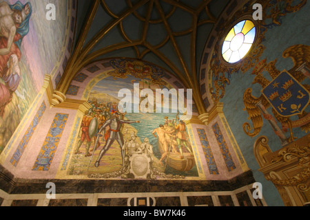 Grab von Francisco Pizarro, Basilika Kathedrale von Lima, Plaza Mayor, Lima, Peru. - Stockfoto