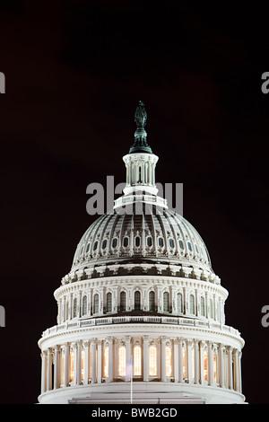 Kapitol in der Nacht, Washington DC, USA - Stockfoto