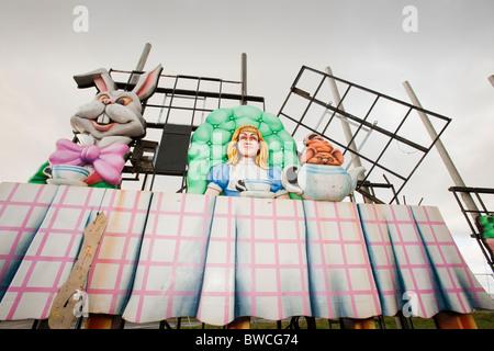 Bestandteil der £ 1 Million Wert des Schadens zu Blackpool Ablichtungen von einem schweren Sturm am 11. November - Stockfoto
