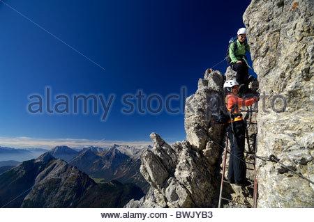 Klettersteig Mittenwald : Klettersteig mittenwalder höhenweg