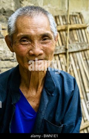 Porträt von Greis, Guangxi, China - Stockfoto