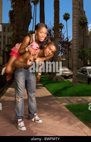 Schwarzes jugendlich Paar