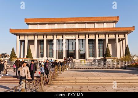 Mausoleum von Mao Zedong, dem Platz des Himmlischen Friedens, Peking, China - Stockfoto