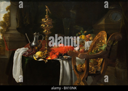 Still-Leben: Ein Bankett-Szene, von Jan Davidsz de Heem - Stockfoto