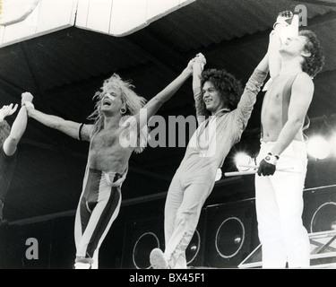 VAN HALEN U.S.-Rock-Gruppe im Jahr 1980 mit Eddie van Halen auf der linken Seite. Foto Van Houten - Stockfoto